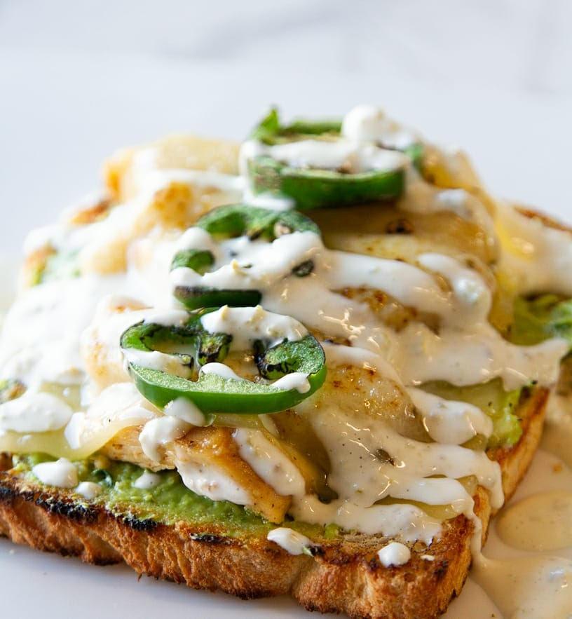 toast with jalapeño
